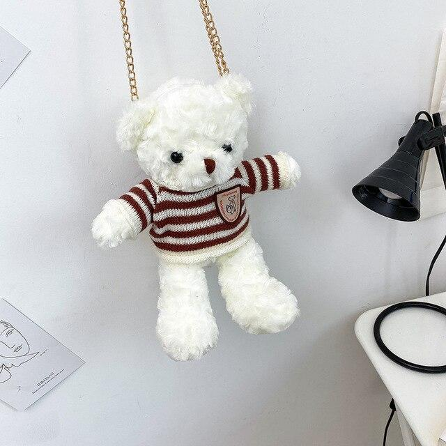 Fluffy Bear Bag - Kawaiies - Adorable - Cute - Plushies - Plush - Kawaii