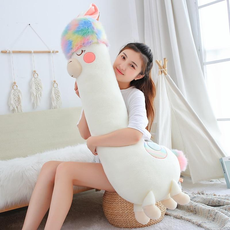 kawaiies-softtoys-plushies-kawaii-plush-Fluffy Rainbow Hair Alpaca Squad | NEW Soft toy