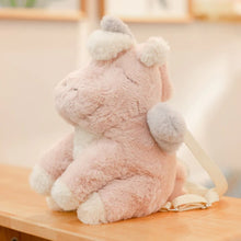 Load image into Gallery viewer, Fluffy Unicorn Backpack - Kawaiies - Adorable - Cute - Plushies - Plush - Kawaii