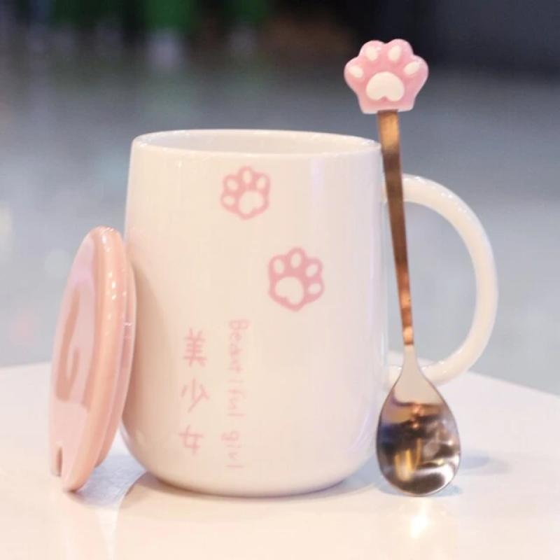 Japanese Sakura Paw Mug | NEW - Kawaiies - Adorable - Cute - Plushies - Plush - Kawaii