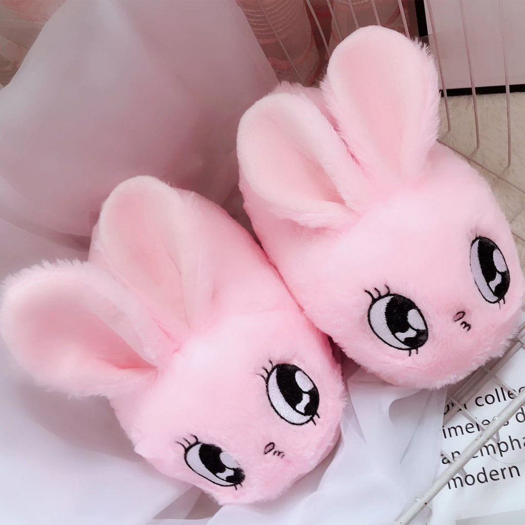 Kawaii Bunny Plush Slippers - Kawaiies - Adorable - Cute - Plushies - Plush - Kawaii