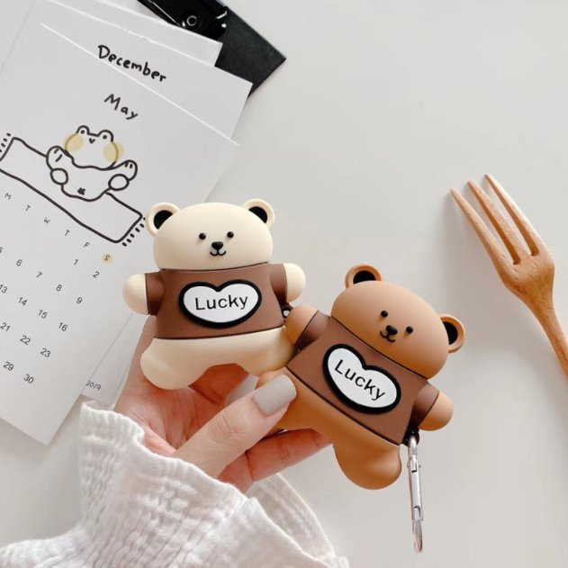 Lucky Bear Airpods Case (1&2) - Kawaiies - Adorable - Cute - Plushies - Plush - Kawaii
