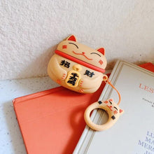 Load image into Gallery viewer, Lucky Cat Airpods Case (1&2&Pro) - Kawaiies - Adorable - Cute - Plushies - Plush - Kawaii