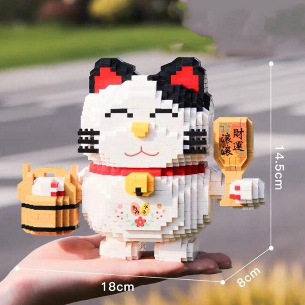 kawaiies-softtoys-plushies-kawaii-plush-Lucky Fortune Nano Cat | NEW Build it Lucky Bucket 2200 pcs