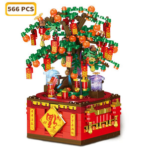 Lucky Orange Tree planted on a Music Box - Kawaiies - Adorable - Cute - Plushies - Plush - Kawaii