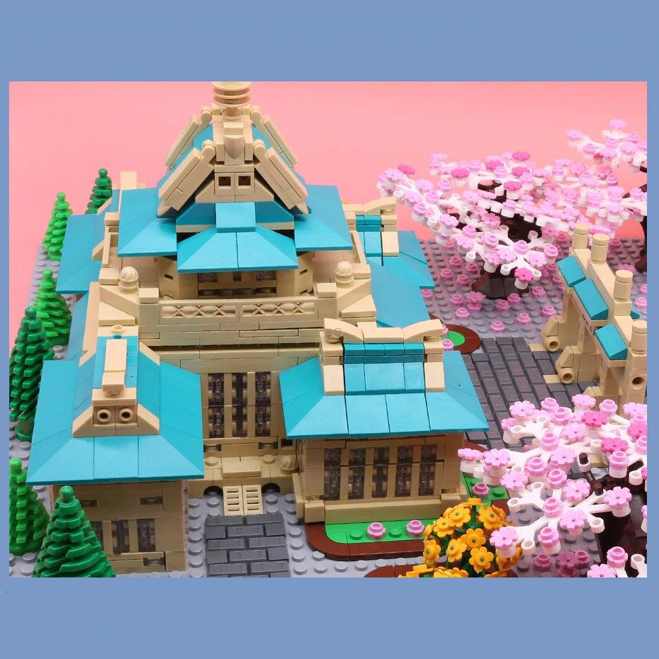 Majestic Japanese Sakura Palace    Limited Edition - Kawaiies - Adorable - Cute - Plushies - Plush - Kawaii