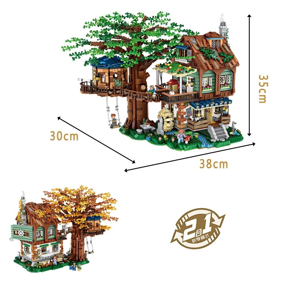 Micro Forest Tree House Building Set - Kawaiies - Adorable - Cute - Plushies - Plush - Kawaii