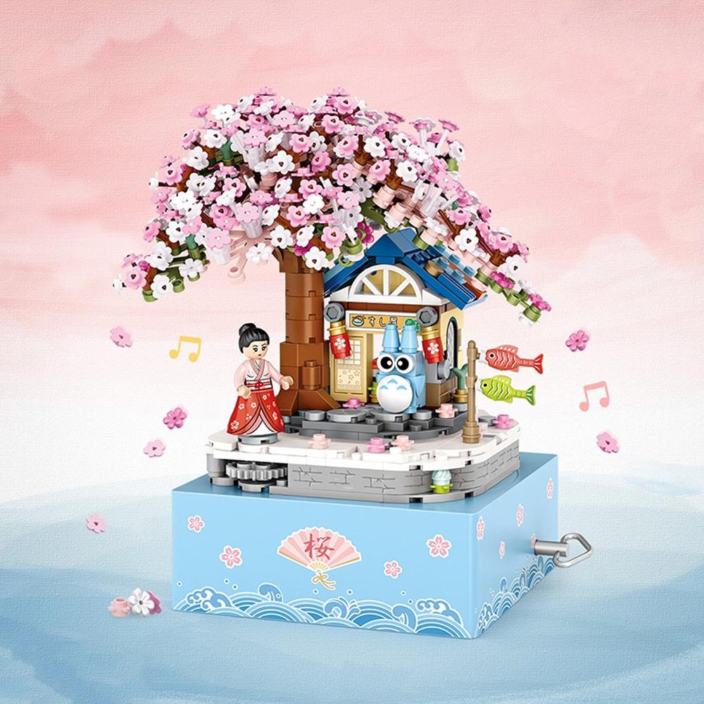 Micro Japanese Sakura Cherry Tree Music Box - Kawaiies - Adorable - Cute - Plushies - Plush - Kawaii