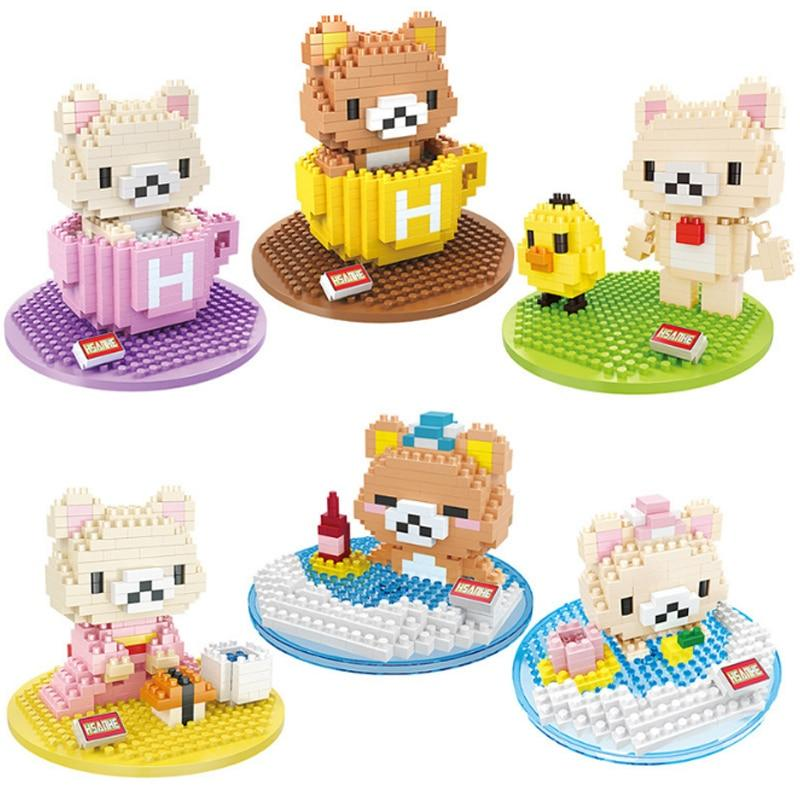 Nano Miniature Blocks Relaxing Japanese Kuma Bears - Kawaiies - Adorable - Cute - Plushies - Plush - Kawaii