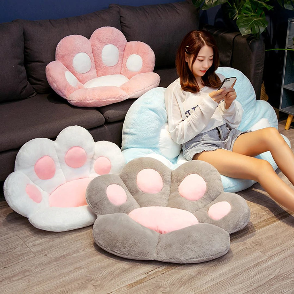 Kawaii Cute Pastel Paw Seat Cushions - Kawaiies - Adorable - Cute - Plushies - Plush - Kawaii