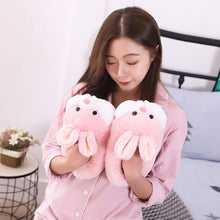 Load image into Gallery viewer, Pink Bunny Plush Slippers - Kawaiies - Adorable - Cute - Plushies - Plush - Kawaii