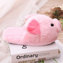 Load image into Gallery viewer, Pink Piggy Plush Slippers - Kawaiies - Adorable - Cute - Plushies - Plush - Kawaii