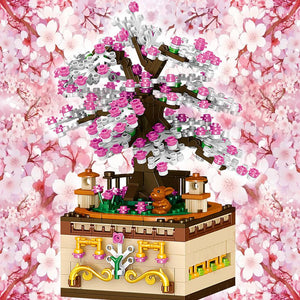 Romantic Japanese Sakura Tree Floating on a Music Box - Kawaiies - Adorable - Cute - Plushies - Plush - Kawaii