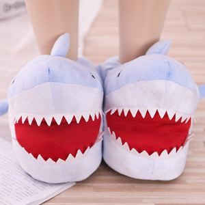 Shark Plush Slippers - Kawaiies - Adorable - Cute - Plushies - Plush - Kawaii