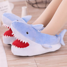 Load image into Gallery viewer, Shark Plush Slippers - Kawaiies - Adorable - Cute - Plushies - Plush - Kawaii