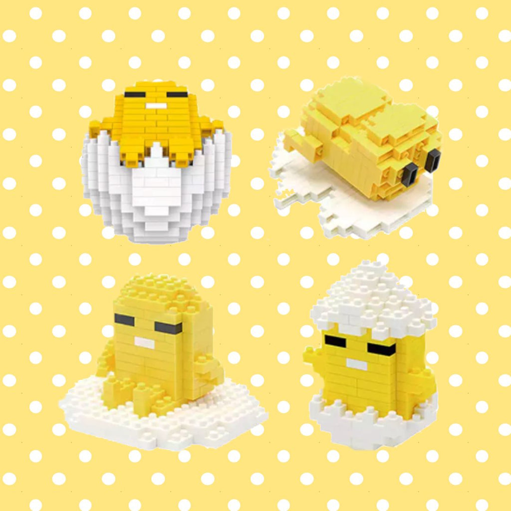 The Chill Lazy Egg Nano Building Blocks - Kawaiies - Adorable - Cute - Plushies - Plush - Kawaii