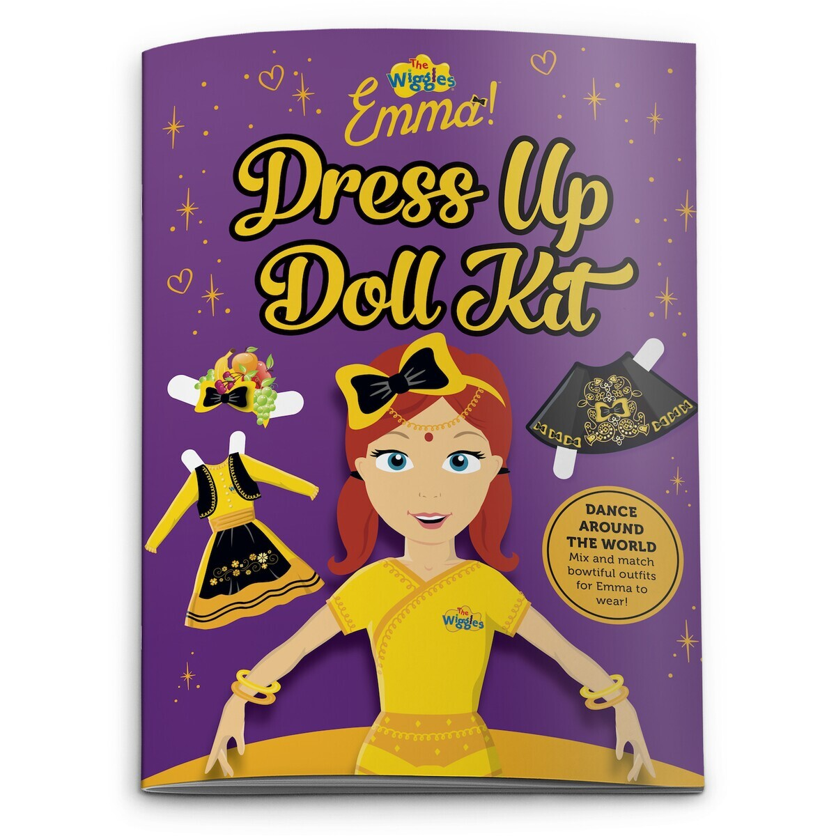 The Wiggles Emma Dress Up Doll Kit Book