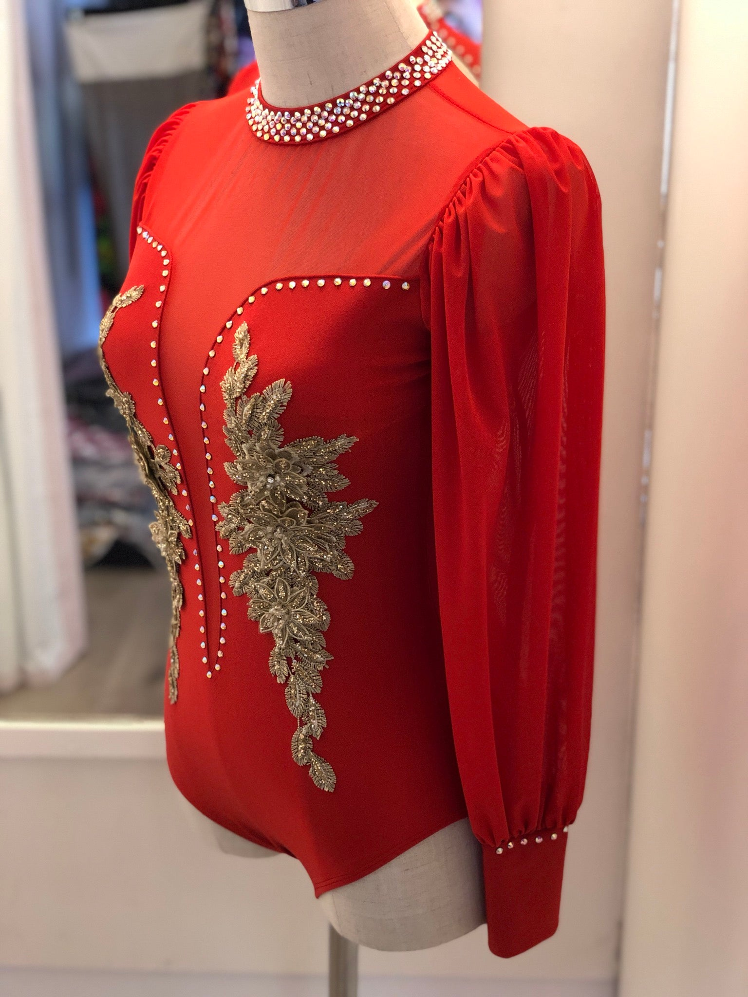 Red lyrical Contemporary Size XS Adult Costume