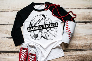 RAISING BALLERS-Baseball/Softball- Soccer- Basketball