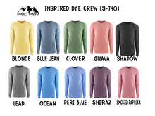 Load image into Gallery viewer, Long Sleeve Inspired Dye Crew-7401