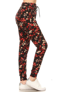 Red Floral | BUTTERY SOFT | JOGGERS