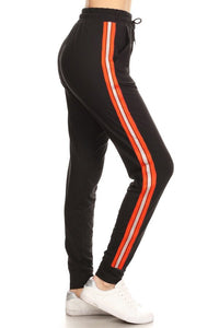 Black With Orange Side Stripes | BUTTERY SOFT | JOGGERS
