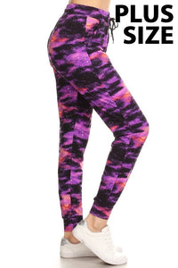 Galaxy Print PLUS SIZE | BUTTERY SOFT | JOGGERS