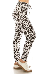 WHITE LEOPARD CHEETAH | BUTTERY SOFT | JOGGERS