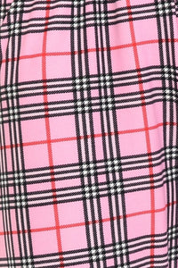 Pink Plaid | BUTTERY SOFT | JOGGERS
