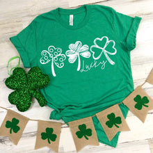 Load image into Gallery viewer, LUCKY 3 CLOVER | ST PATTYS | GREEN DAY