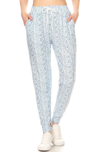 White/Blue Speckled | BUTTERY SOFT | JOGGERS