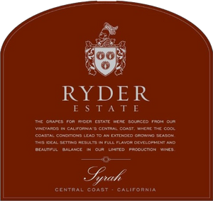 Ryder Estate Central Coast Syrah