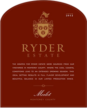 Load image into Gallery viewer, Ryder Estate Central Coast Merlot