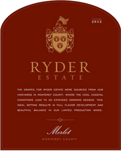 Ryder Estate Central Coast Merlot