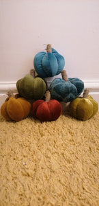 Small Velvet Pumpkins