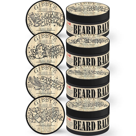 BEARD BALM SAMPLE 4 PACK - 1/2OZ EACH - Gibbys Beard Co