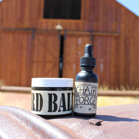 """Chair Force"" Basic Combo (1 oz Beard Oil & 2 oz Beard Balm) - Gibbys Beard Co"