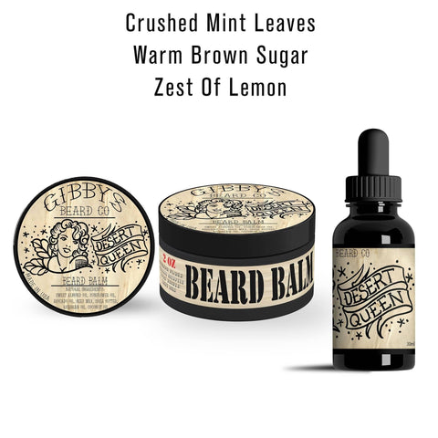 """Desert Queen"" Basic Combo (1 oz Beard Oil & 2 oz Beard Balm) - Gibbys Beard Co"