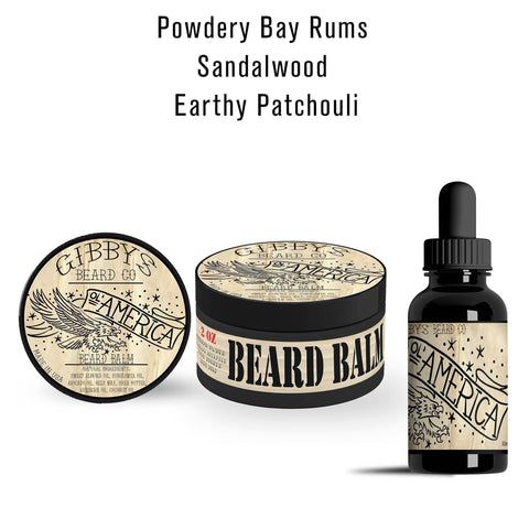 "Image of ""O'l America"" Basic Combo (1 oz Beard Oil & 2 oz Beard Balm) - Gibbys Beard Co"