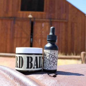 """O'l America"" Basic Combo (1 oz Beard Oil & 2 oz Beard Balm) - Gibbys Beard Co"
