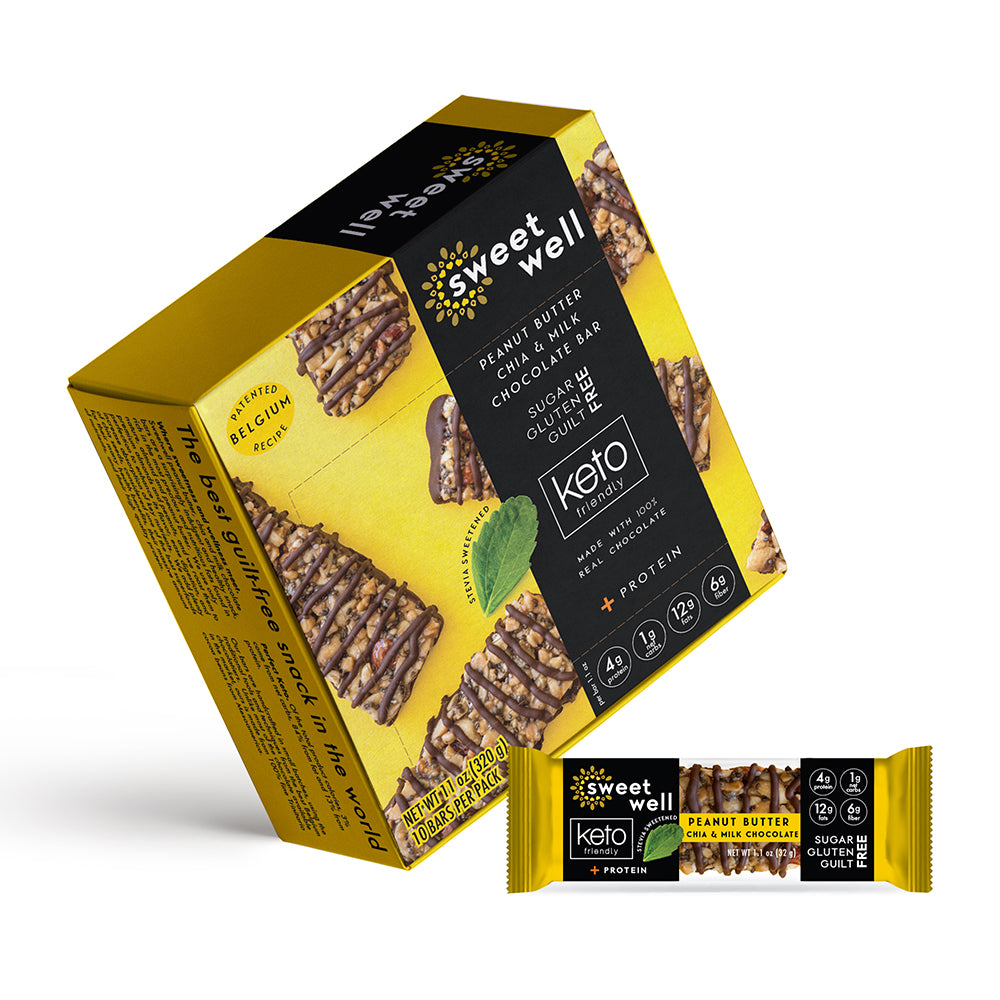 Load image into Gallery viewer, Peanut Butter, Chia & Milk Chocolate Bar 10 Pack