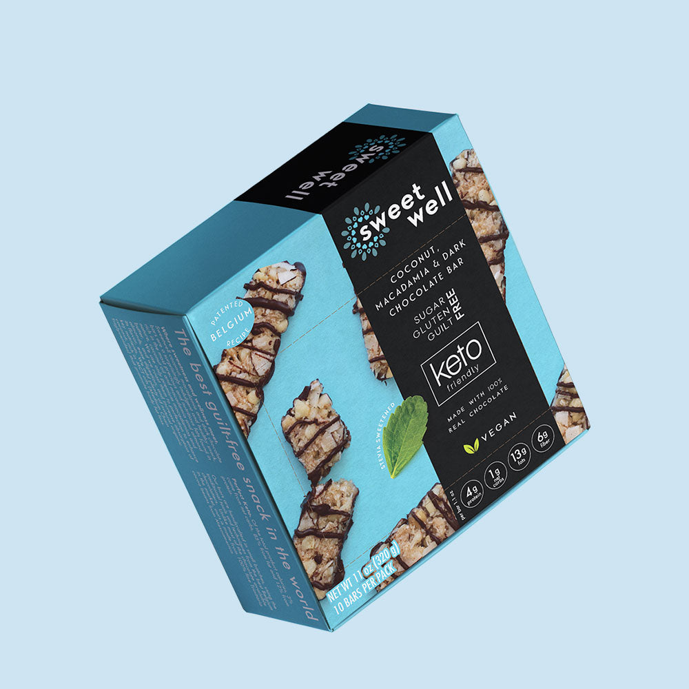 Coconut, Macadamia & Dark Chocolate Bar 10 Pack