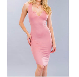 Summer Nights Midi Racer Back Dress-Mauve