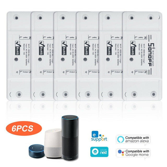 10pcs SONOFF Wifi  Smart Switch