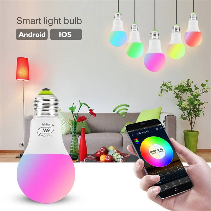 5W WiFi Smart RGB LEDLight Bulb