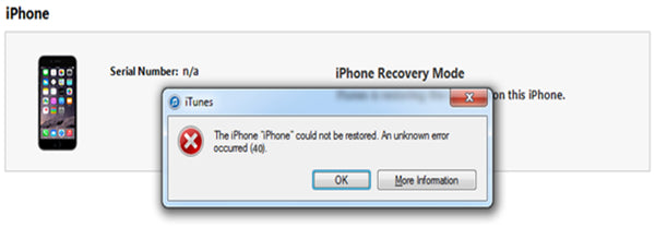 "How to Fix iPhone 6P ""Error 40"" After Nand Expanding"