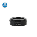 0.5X Barlow Lens Auxiliary Objective Glass for 180X 300X C-MOUNT