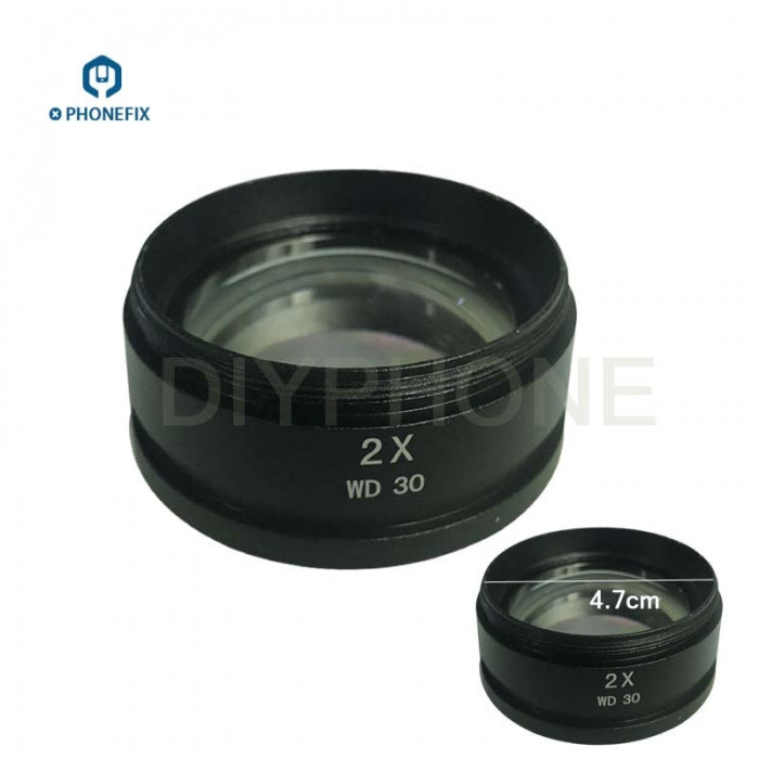 0.5X 2.0X Barlow Lens Assisted Objects Lens for industrial Microscope