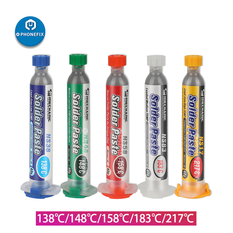 Mechanic 10cc Syringe Tin Soldering Paste Flux For PCB BGA Repair