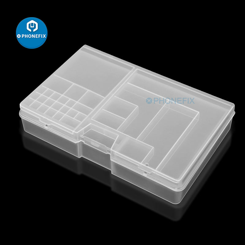 Double-layer PVC Component Storage Box for Phone IC Repair Parts